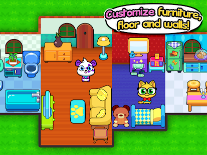 forest folks cute pet home design game screenshot thumbnail - Home Design Game