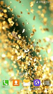 Zlaté Třpytky Tapety - náhled