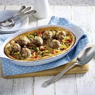 Meatball Pizza Casserole.
