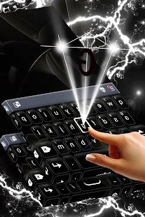 Černá klávesnice pro Android - náhled