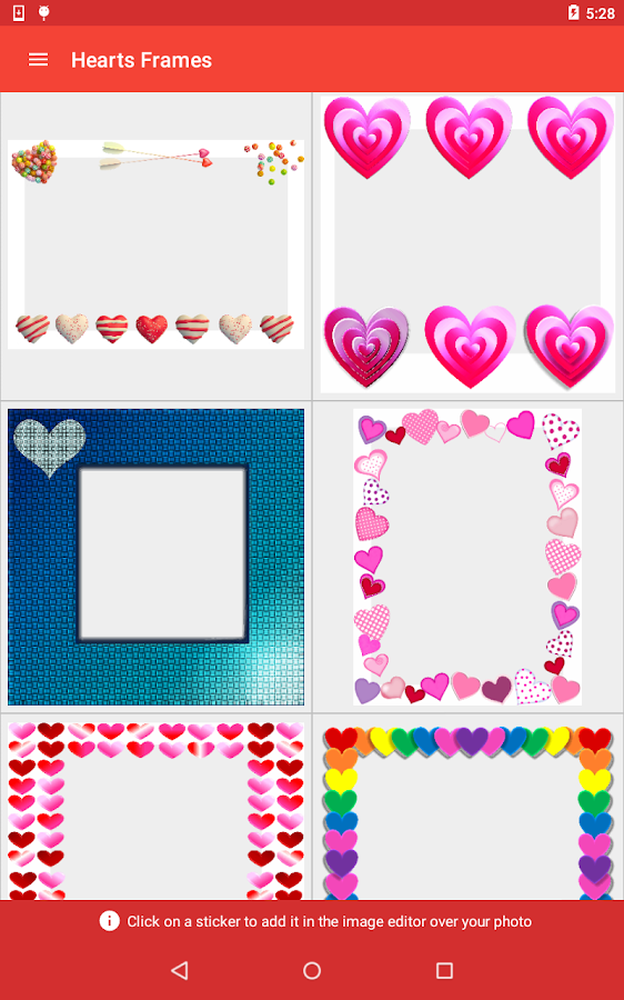 hearts frames screenshot