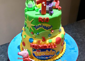 Teletubbies and Mr Tumble cake