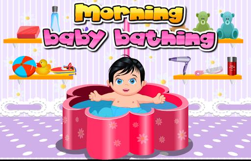 Morning Baby Bathing