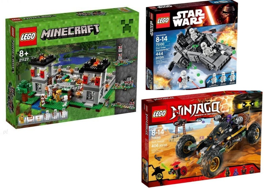 Klocki Lego, Minecraft, Star Wars - prezent dla chlopca 8 latka na urodziny