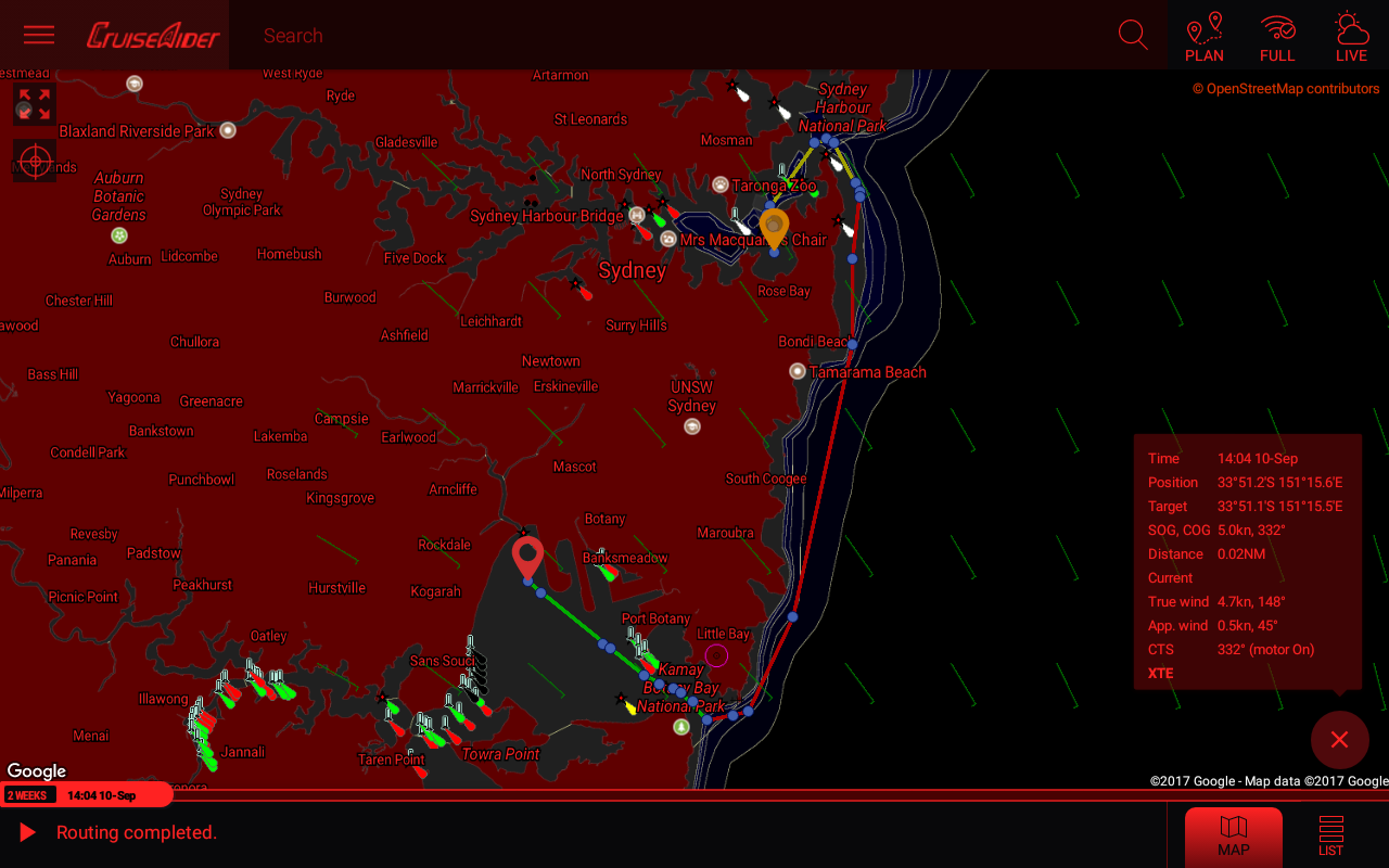 CruiseAider - Weather Routing for Sailing- screenshot
