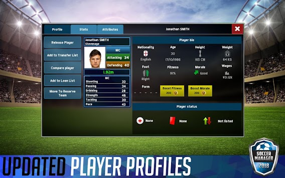 Soccer Manager 2018 (Unreleased) APK screenshot thumbnail 6