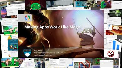 Photo: Making Apps Work Like Magic. Presented by Reto Meier at Google I/O 2013.