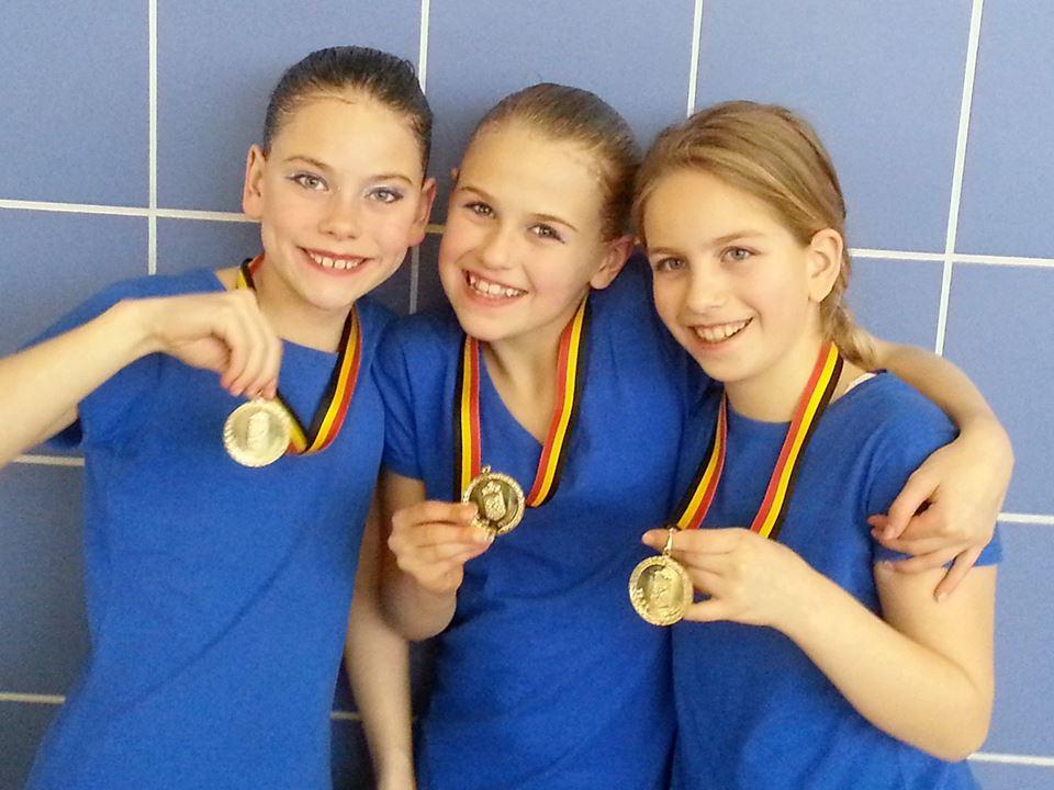 Synchroon: Mechels duet is Belgisch Kampioen Synchroonzwemmen