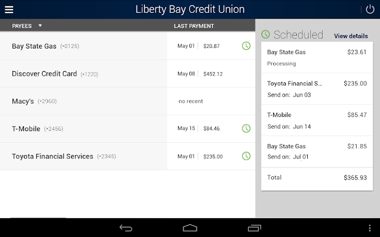 android Liberty Bay Credit Union Screenshot 8