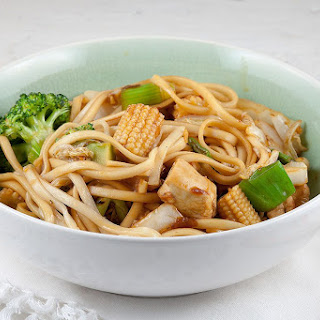 Chicken, Noodles And Baby Corn Stir-fry.