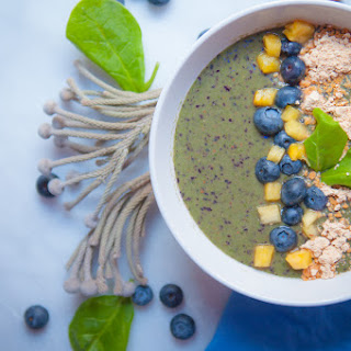 Peanut, Blueberry, Spinach and Pineapple Bowl Recipe