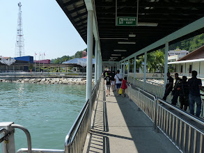 Photo: Pulau Pangkor - jetty after arrival
