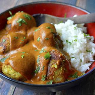Potato Kofta in Butter 'Chicken' Sauce [Vegan].