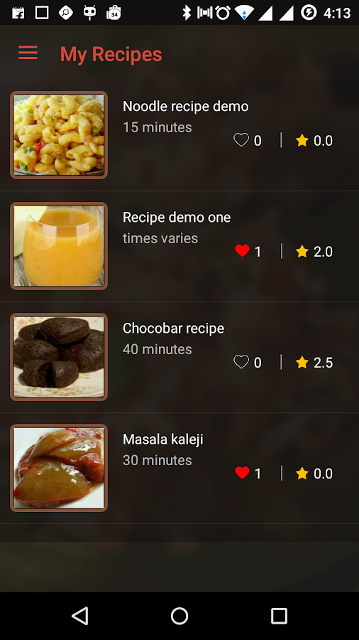 Master Recipes- screenshot