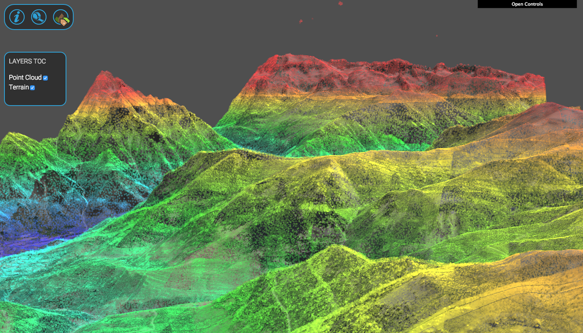point cloud created from images captured by a drone