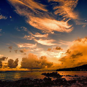 Twilight's Glow by Jun Robato - Landscapes Cloud Formations ( cloud formations, asan bay, guam, sunsets, twilight )