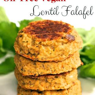 Oil-Free Vegan Lentil Falafel.