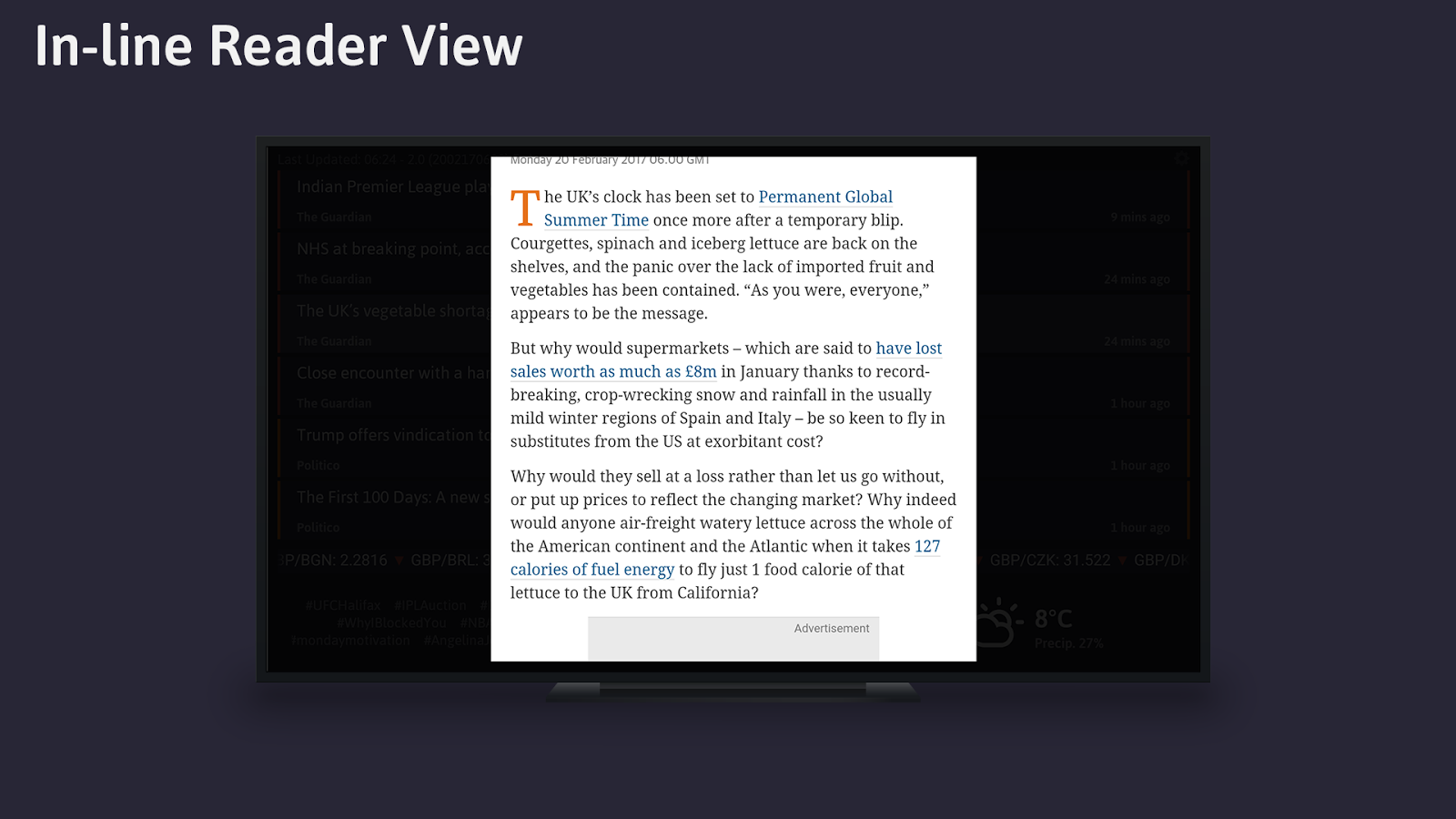 Headlines - RSS Reader- screenshot