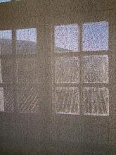 Photo: Vue sur les toits, à travers les filtres textiles
