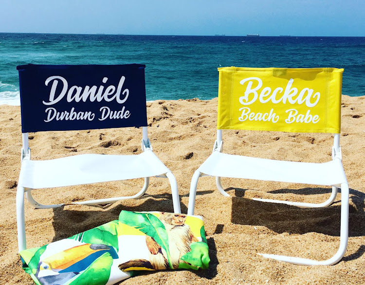 Macaroon's personalised beach chairs