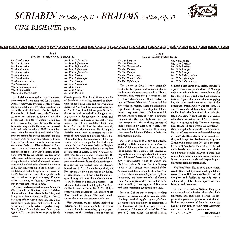 Alexander Scriabin, Johannes Brahms