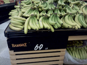 Photo: We entered the store on the produce side, bananas were right there and on our list.