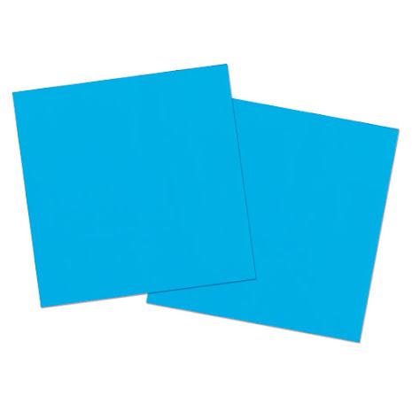 Servetter, blå, 8st.