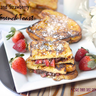 Nutella and Strawberry Stuffed French Toast