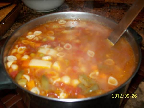 This Was My Version Of Your Recipe, I Added Beans, It Was A Great Crab Meat Minestrone Soup.