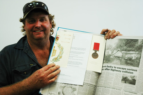 Clive Redfern has been awarded the Australian Bravery Medal for his actions in July 2013.