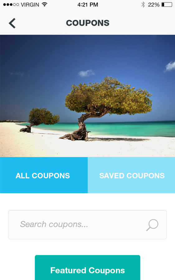 Aruba Cruise App- screenshot