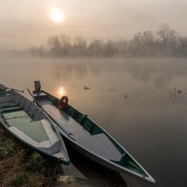 Barce by Pietro Ebner - Transportation Boats ( barce, ticino, boat, river,  )
