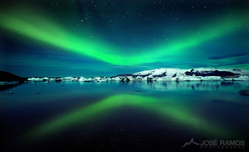 """Photo: """"The Spirits Return II""""  When synchronicity starts turning the wheels of time and gathering the elements, magical things can happen in front of our eyes.  Location: Jokulsarlon Glacier Lagoon, Iceland 