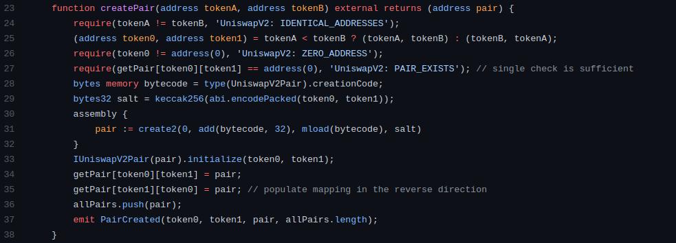 createPair-code