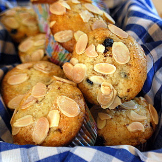 Blueberry Milk Chocolate Muffins.