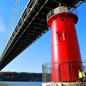 George Washington Bridge, New York City by Sandeep Kochar - Buildings & Architecture Bridges & Suspended Structures
