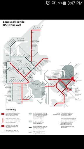 Denmark DBS Rail Map