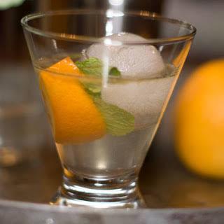 Gin Smash with Orange.