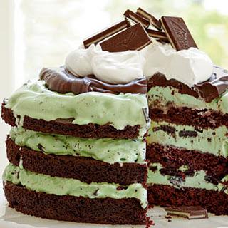 Mint Chocolate Chip Ice-Cream Cake.