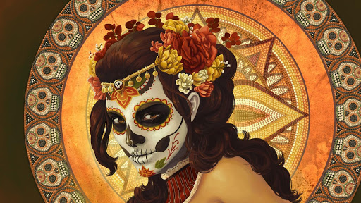 Mexican Skull Live Wallpaper