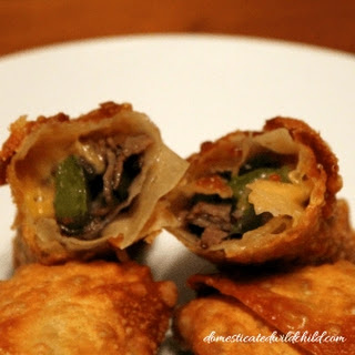 Philly Cheesesteak Egg Rolls.