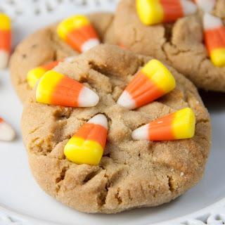 Candy Corn Peanut Butter Cookies