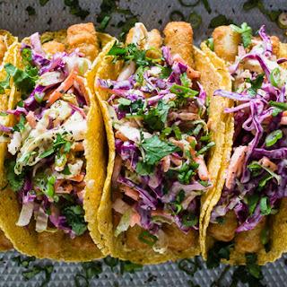 Easy Fish Tacos with Citrus Greek Yogurt Slaw Recipe