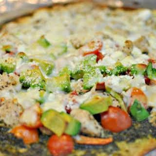 Pesto Pizza with Chicken.