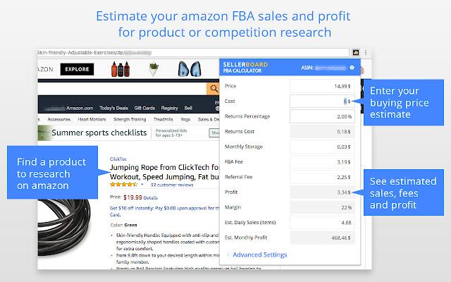 sellerboard Amazon FBA Profit Calculator