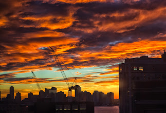 Photo: Did anyone else have a crazy, beautiful sunset tonight? It was so intense!