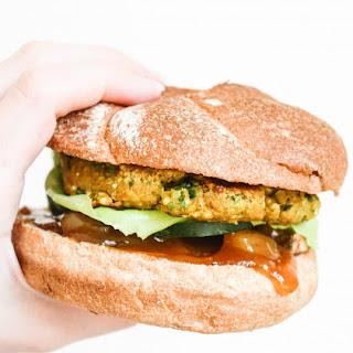 Curried Chickpea Quinoa Veggie Burgers