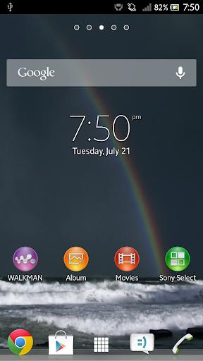 Rainbow Ocean Live Wallpaper