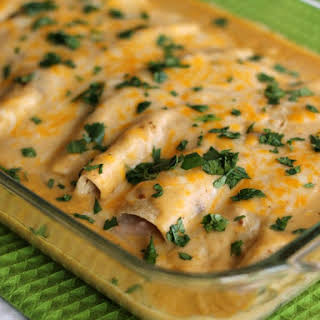 Creamy Crab and Shrimp Enchiladas From Scratch.