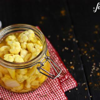 Pickled Curry Cauliflower.